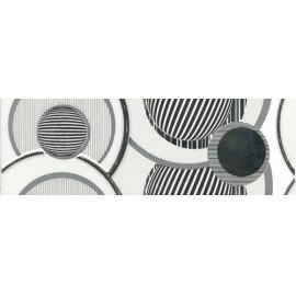 Плитка керамічна Fluid білий широкий бордюр 5061-1 23*7,5 см