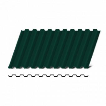 Металопрофіль Т-12 RAL  6005  1,15*1,20 (тем.зелений)