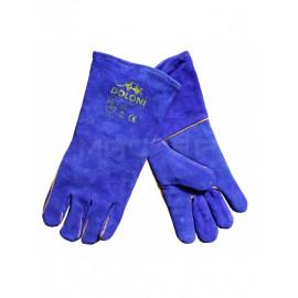 Рукавиці сварочні з підкладкою сині 4508