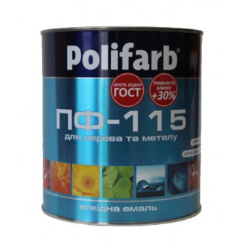 Фарба черв.-кор. ПФ-115 поліфарб 2,7 кг