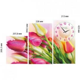 06-413 Годинник настінний на полотні