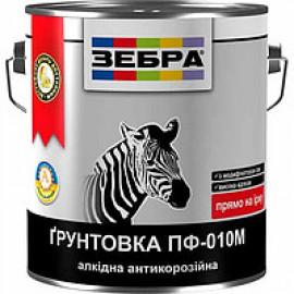 Фарба грунт тем.сіра ПФ-010М ЗІП 2,8кг 18