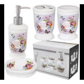 Купити Набір аксесуарів для ванної кімнати Півонія 4пр.  888-090  8ee29aa63e762