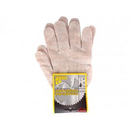 Рукавиці трикотажні білі (3 нитки) розм.10 /83V001/