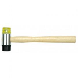 Молоток гумов./пластик. з дерев. ручкою D-35мм /33950/